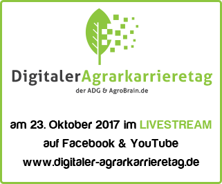 am 23. Oktober 2017 im LIVESTREAM auf Facebook & YouTube www.digitaler-agrarkarrieretag.de